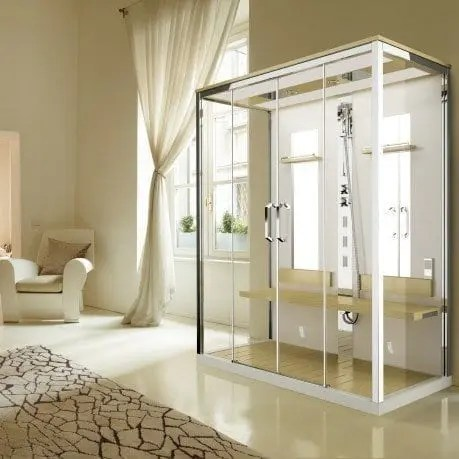 il benessere in una cabina doccia