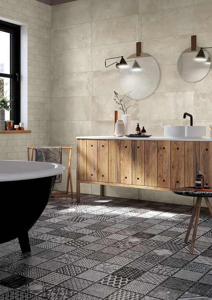 Hmade bagno effetto cementina e maiolica