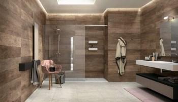 Piastrelle per il bagno effetto legno: Allways puro design