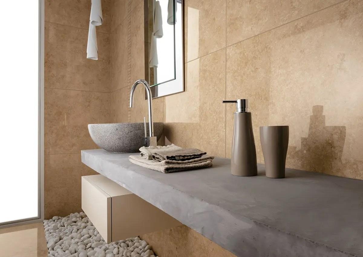 Pavimenti per bagno collezione na me - Bagno in pietra ...