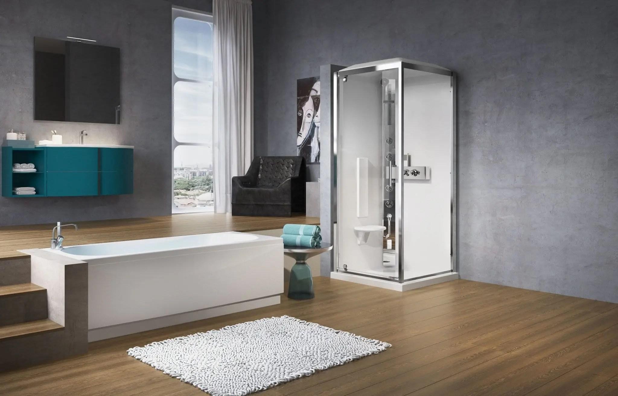 Cabina doccia rettangolare glax andhome by depr - Porta cabina doccia ...