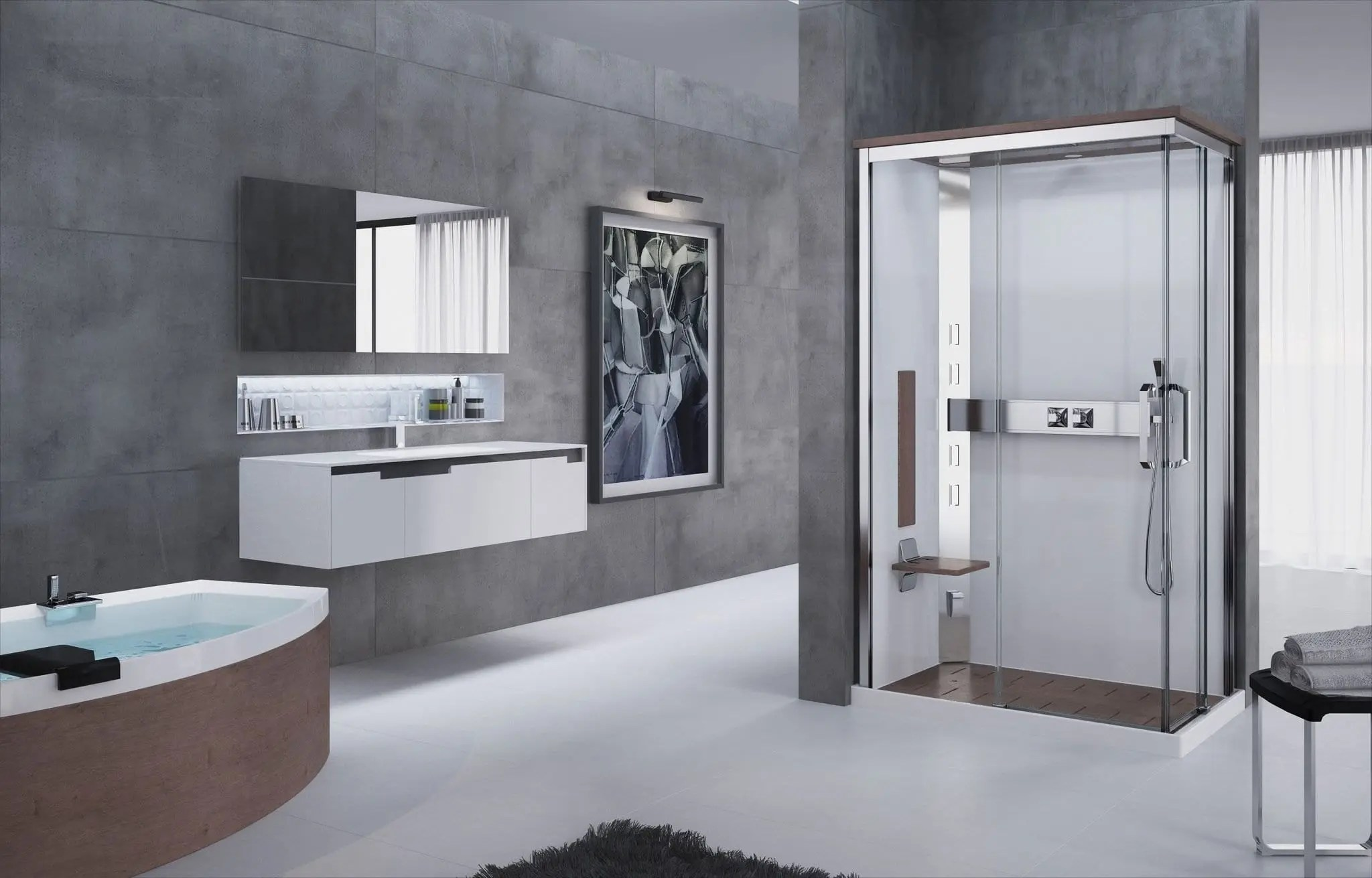 Box doccia semicircolare padova doppia porta battente