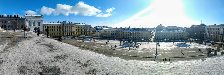 View of Senate Square from Helsinki Cathedral, Finland