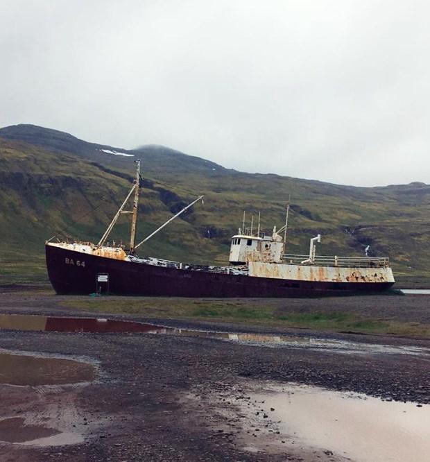 Garðar BA 64 whaling boat west fjords iceland