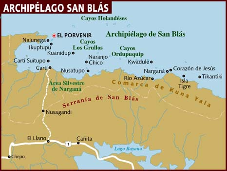 Image result for map of the san blas islands