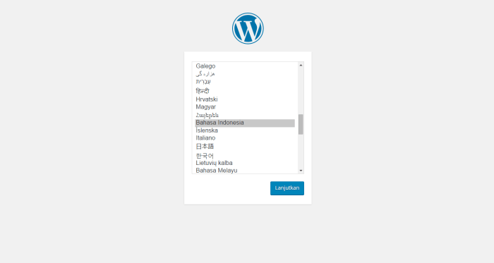 Cara Install WordPress Secara Manual Bahasa