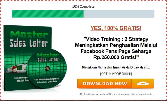 Master Sales Letter optin