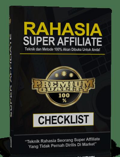 checklist RAHASIA SUPER AFFILIATE