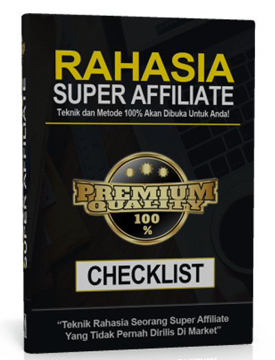 checklist RAHASIA SUPER AFFILIATE