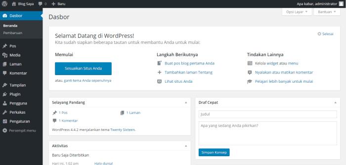 install wordpress softaculous dashboard 16