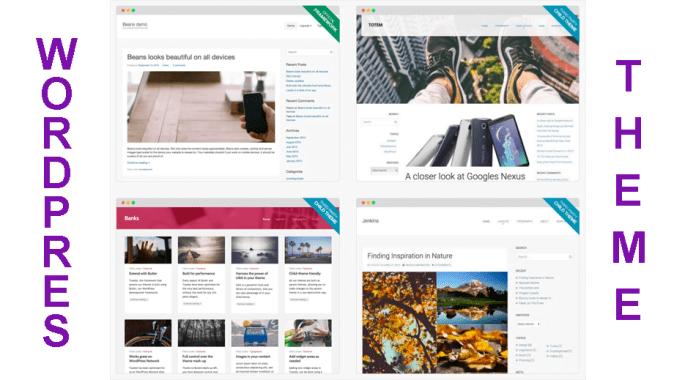 theme wordpress untuk blogging