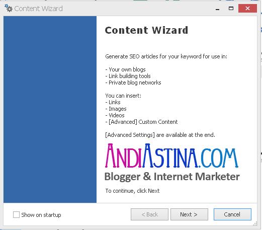 Review Cara Menggunakan SEO Content Machine Content Wizard - andiastina.com