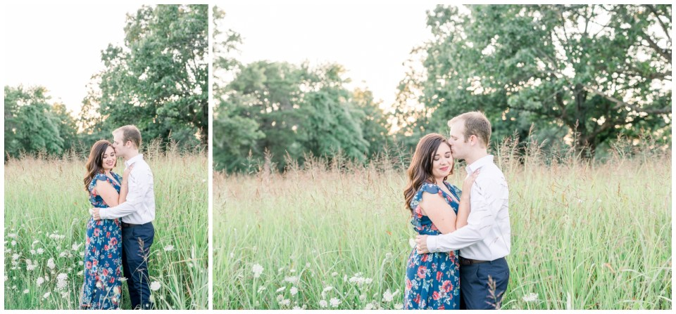 Forehead kisses in a field |Petit Jean Engagement| Petit Jean State Park| Tulsa Wedding Photographer| Arkansas wedding photographer| Arkansas Engagement| Destination Wedding Photographer| Andi Bravo Photography| andibravophotography.com