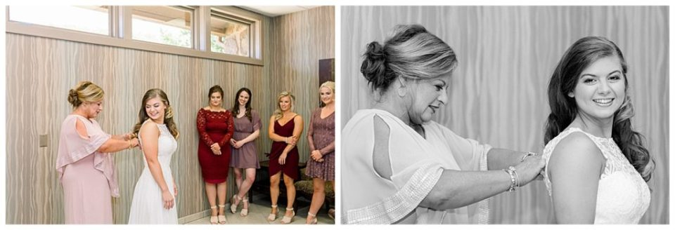Bride and mother of the bride getting ready shots at PostOak Lodge in Tulsa, OK| Tulsa Wedding Photographer| PostOak Lodge Wedding| Destination Wedding Photographer| Andi Bravo Photography
