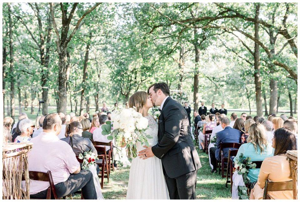 You may kiss the bride| PostOak Lodge in Tulsa, OK| Tulsa Wedding Photographer| PostOak Lodge Wedding| Destination Wedding Photographer| Andi Bravo Photography