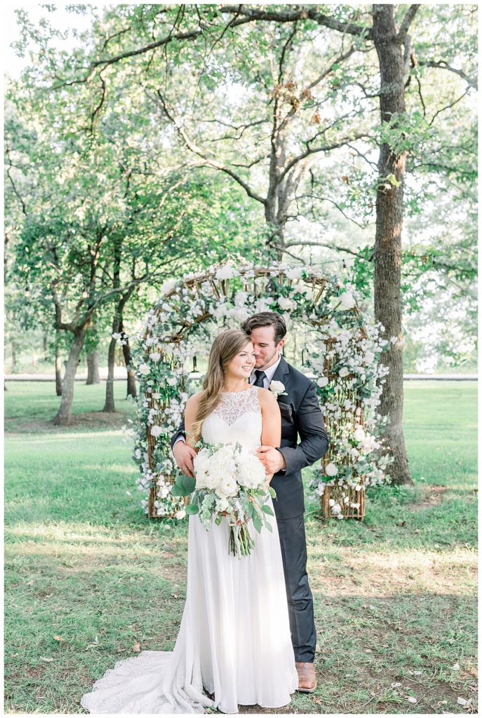 Bride and groom portrait at PostOak Lodge in Tulsa, OK| Tulsa Wedding Photographer| PostOak Lodge Wedding| Destination Wedding Photographer| Andi Bravo Photography