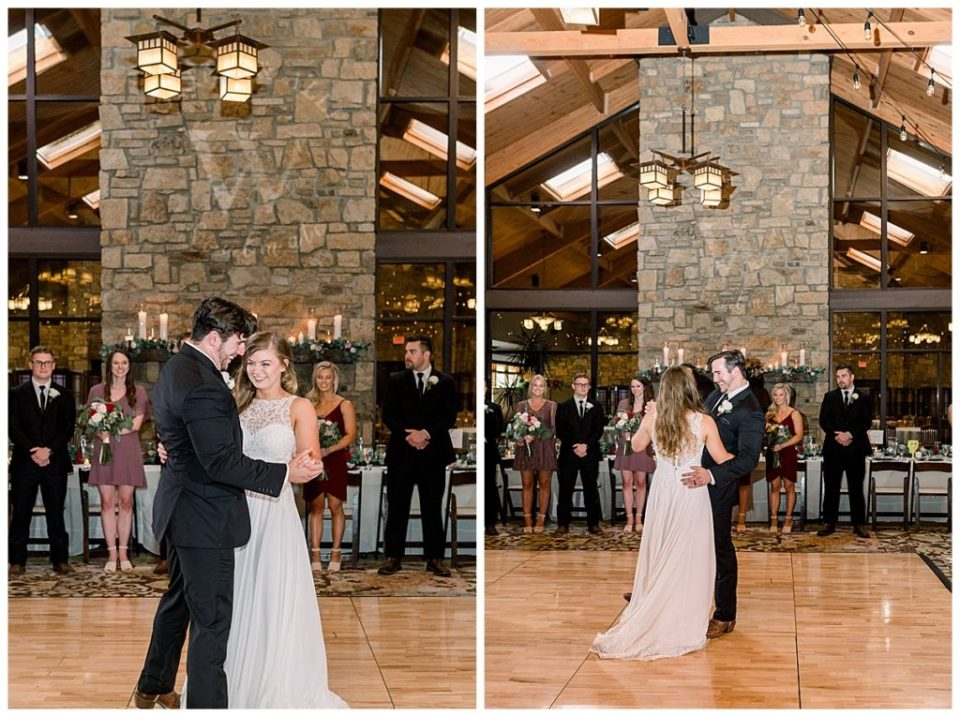 Bride and groom first dance at PostOak Lodge in Tulsa, OK| Tulsa Wedding Photographer| PostOak Lodge Wedding| Destination Wedding Photographer| Andi Bravo Photography