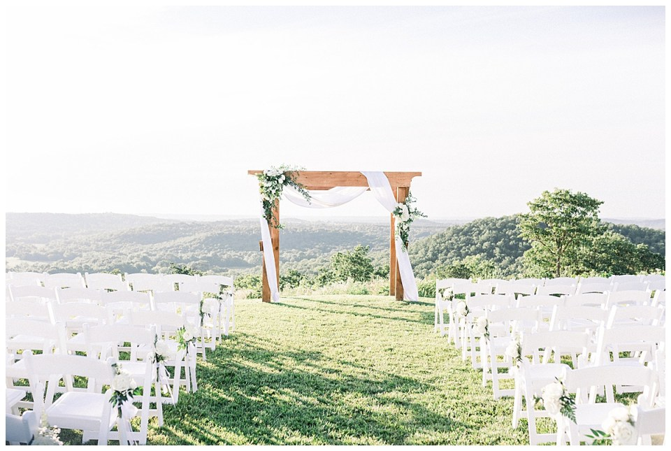 Outdoor ceremony view| The View At Hillside Barn Wedding| Countryside Wedding|  Tulsa Wedding Photographer| Andi Bravo Photography