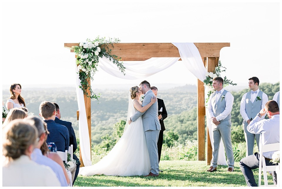 Romantic outdoor ceremony| The View At Hillside Barn Wedding| Countryside Wedding|  Tulsa Wedding Photographer| Andi Bravo Photography