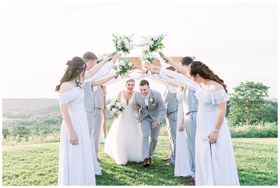Bridal party manmade arch| The View At Hillside Barn Wedding| Countryside Wedding|  Tulsa Wedding Photographer| Andi Bravo Photography