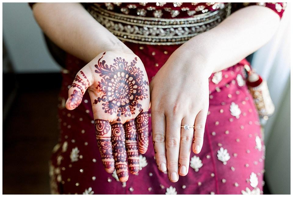 Ceremonial henna and wedding ring| Indian Hindu wedding ceremony Tulsa| Tulsa wedding photographer| Andi Bravo Photography