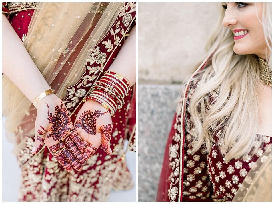 Crimson and gold Indian Hindu wedding Hindu ceremony attire| Indian ceremonial wedding henna| Wedding bangles| Hindu Indian Wedding Tulsa|Tulsa Wedding photographer| Andi Bravo Photography