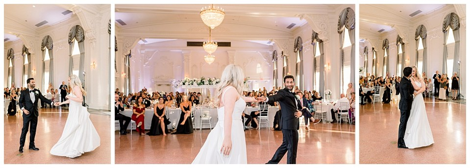 Bride and groom first dance snapshots at The Mayo Hotel wedding reception| Tulsa weddings| Andi Bravo Photography
