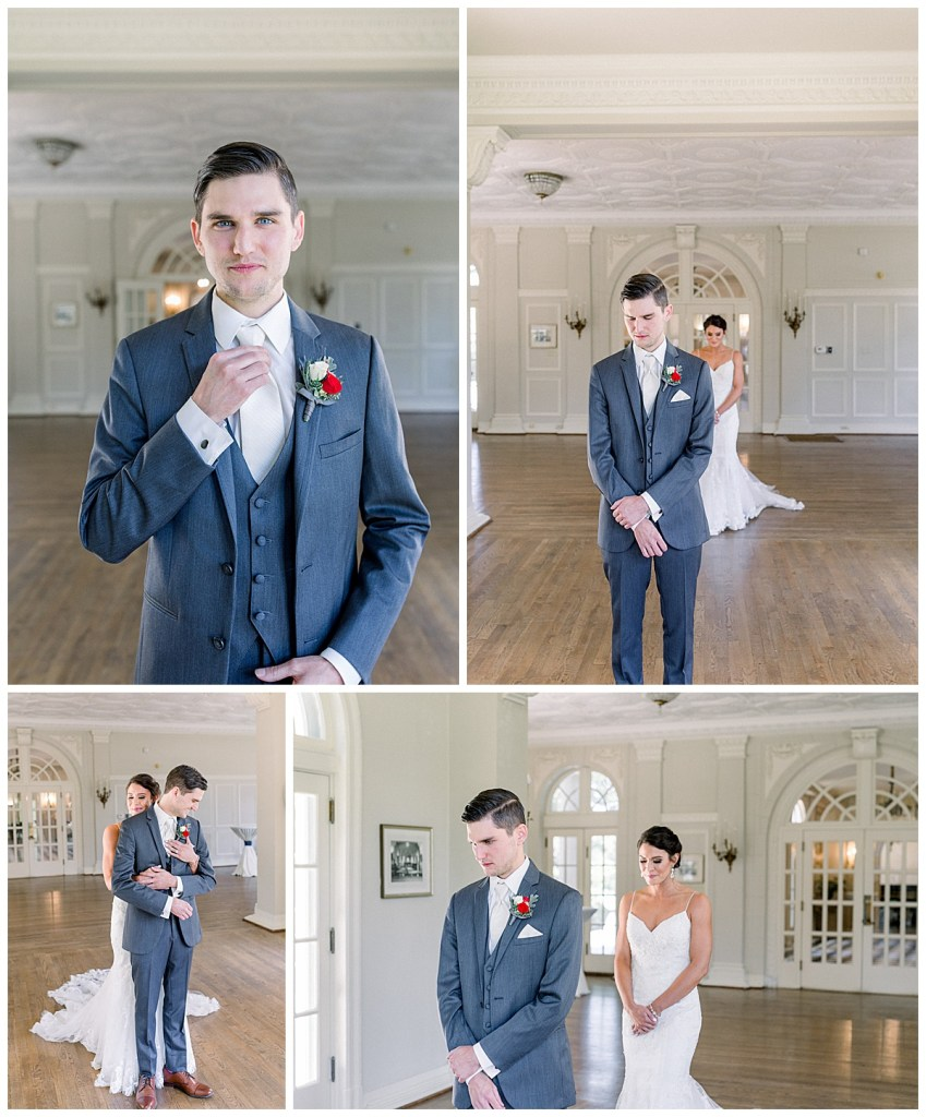 First look at The Mansion at Woodward Park| Tulsa wedding venue| Wedding first look| Andi Bravo Photography