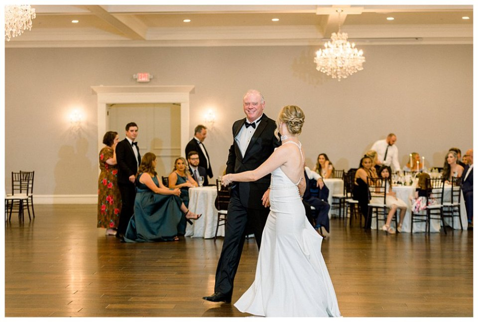 Bride dancing with father at wedding