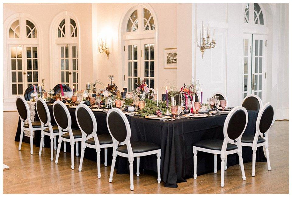 Black gothic, victorian, fall, halloween wedding Mansion at Woodward Park elopement Stunning  Timeless Tulsa Photographer