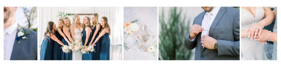 Beautiful stunning detail shots, focusing on getting ready, for both the bride and groom