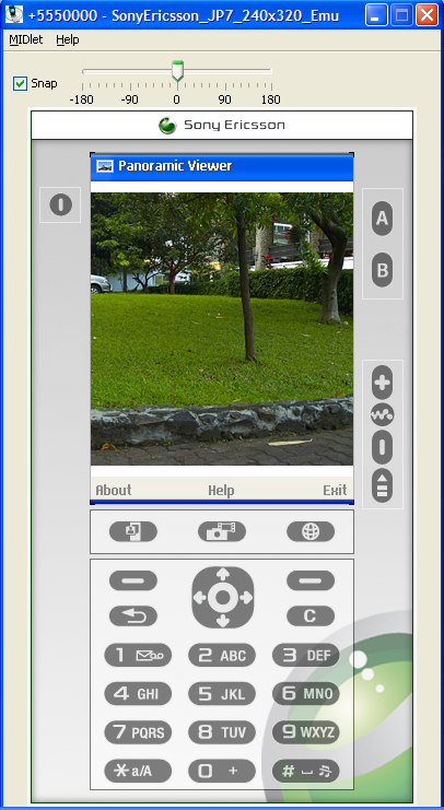 screenshot mobile panoramic viewer