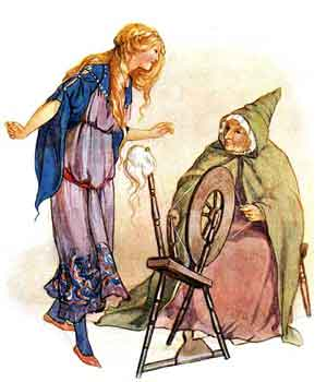 Ilustratie din povestea frumoasa din pădurea adormită