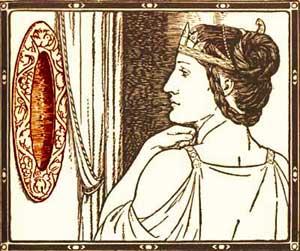 Maştera privindu-se in oglindă