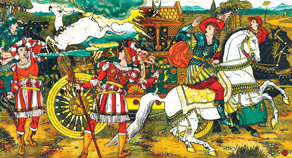 """Ilustrație din povestea """"Căprioara albă"""""""