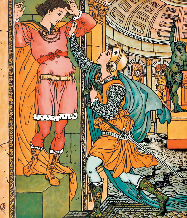 Ilustrație din povestea Prințesa Stea-Frumoasă