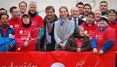 SAR, la Infanta Doña Elena, Inaugura el IV Curso de Tenis Adaptado.