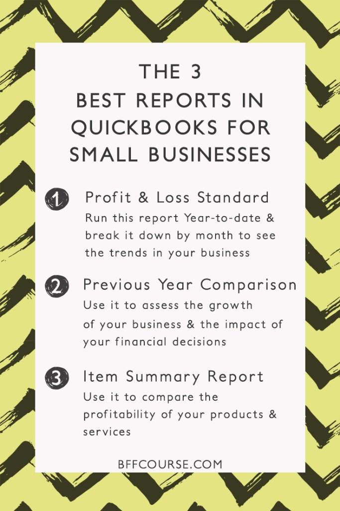 Quickbooks | Small Business | Reports | Financial Organization