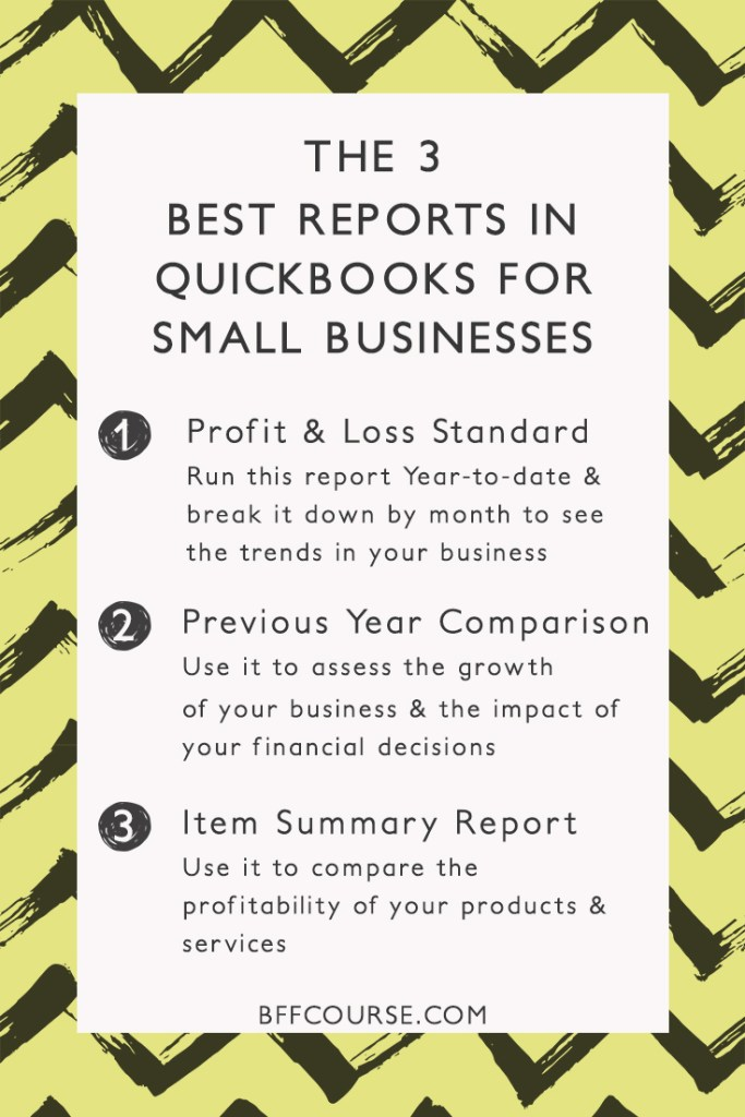 Quickbooks | Small Business | Reports | Financial Organization
