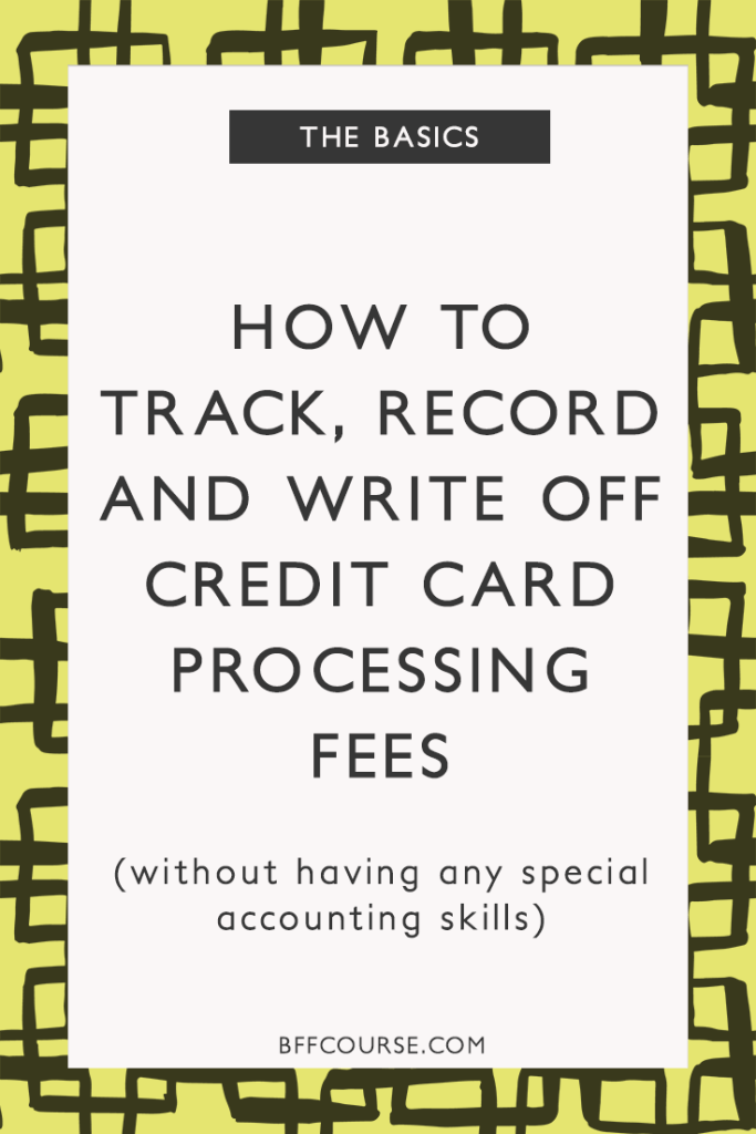 How to track record write off credit card processing fees small business accounting credit card fees bookkeeping reheart Images