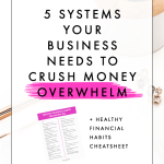 5 Systems Your Business Needs to Crush Money Overwhelm