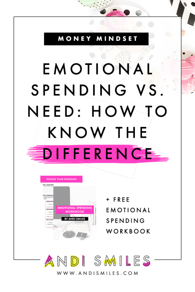 Do you know when you're emotionally spending and when you're buying something you really need for your small business? If you find yourself in a cycle of overspending, it might be because you're emotionally spending! Click through to learn the difference between emotional spending and need and the signs that you're emotionally spending. #entrepreneur #spendingtips
