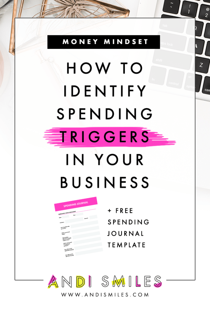 Do you notice that sometimes you just want to SPEND MONEY in your small business? It's as if a little switch goes off in your brain and you're compelled to spend, spend spend. If this sounds familiar, then you're experiencing a spending trigger. Spending triggers are a major bummer when you're trying to stick to a budget or keep your business expenses low. Click through to learn more about spending triggers, the more common spending triggers, and how to identify your own triggers. #smallbusiness #budgetingtips