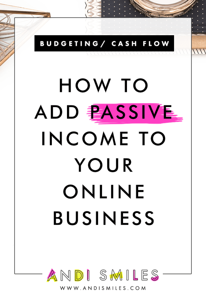 Passive income is a great way to diversify your income streams and create a more balanced revenue structure in your small business. Instead of putting all your money eggs in one basket, you have many baskets, and that means you've still got a little something if one basket is empty. Click through to learn five ways to add passive income to your online business...without sacrificing your time or energy. #passiveincome #smallbusiness