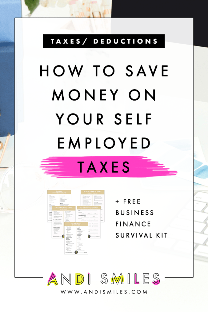Does paying your self-employed taxes make you cringe every year? If so, then you'll be happy to know that you have the power to decrease your final tax bill! Say what?! It's gloriously true. I'm sharing my favorite strategies for lowering your tax bill so you can get in on some sweet self employed tax savings. Click through tp read because you're def going to want to hear these tax saving tips for small business owners. #smallbusiness #taxtips