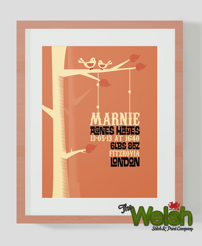 Marnie Print. A Personalised Birth Print: By Factory, Digital Agency In Manchester
