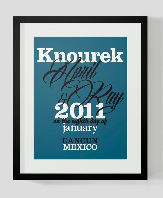 knoureks wedding print