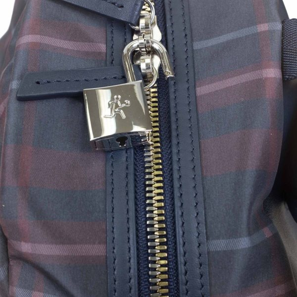 WANT Les Essentiels Kastrup Backpack - Navy Tartan Nylon/Navy