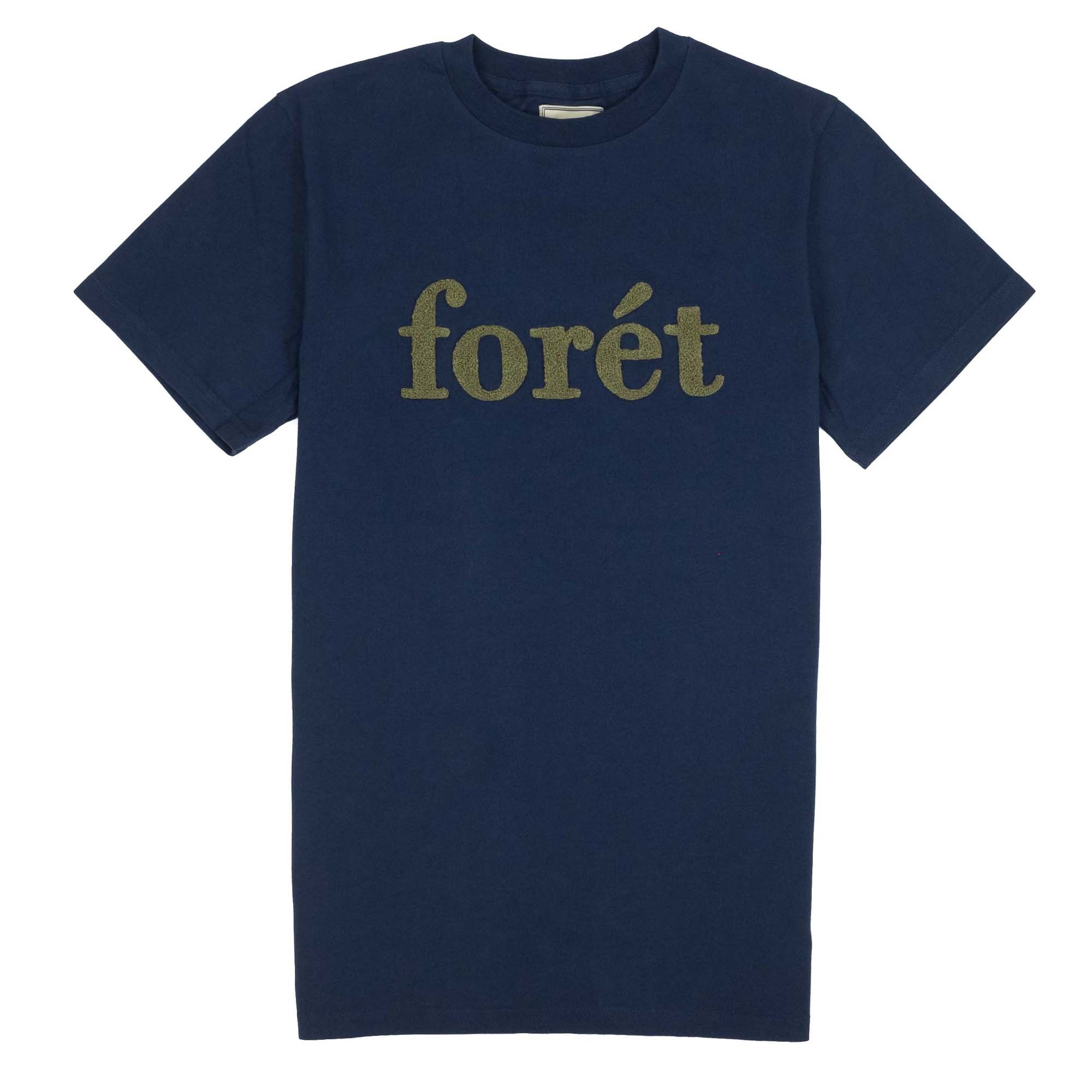 forét Log T Shirt - Navy/Olive