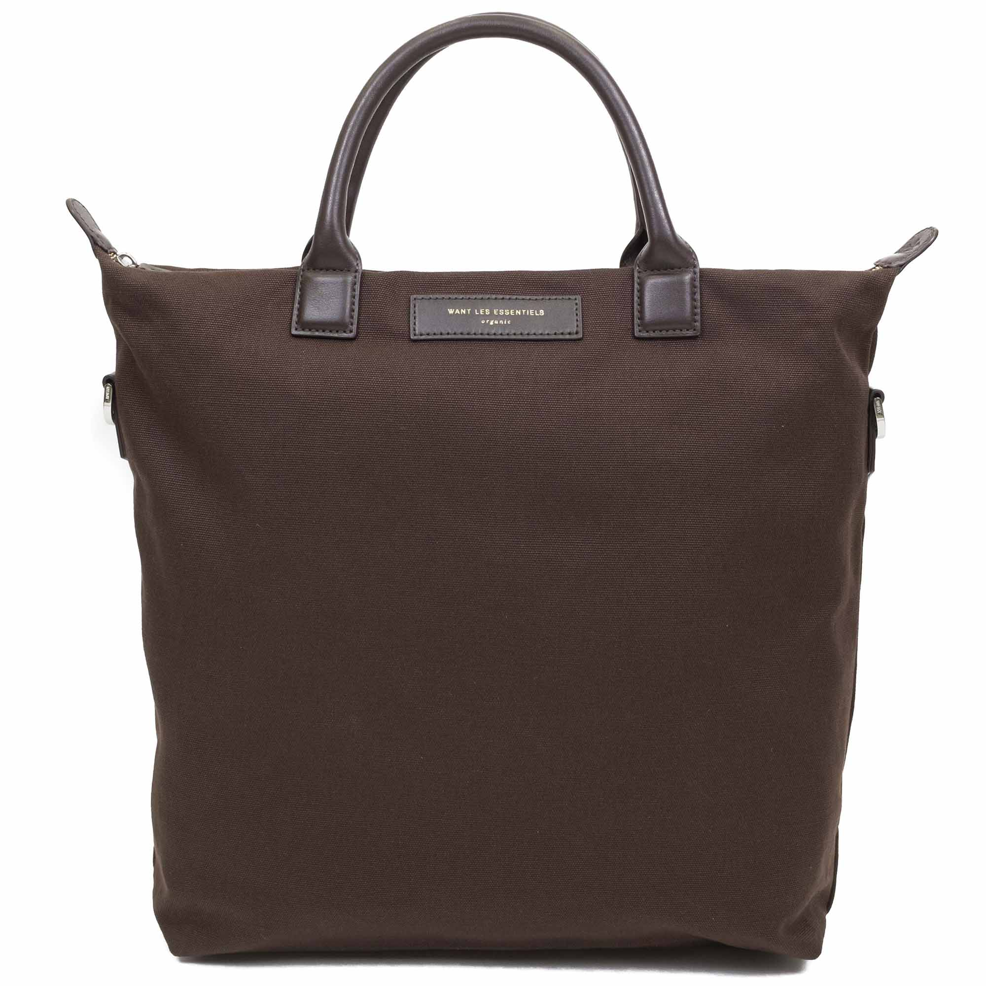WANT Les Essentiels OHare Shopper Tote - Brown Canvas/Chestnut